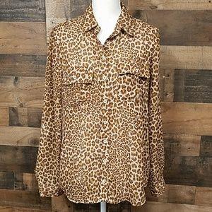 Rue 21 animal print blouse Size Large
